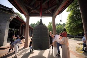 Preizkušanje debeline zvonca v templju Chunyang